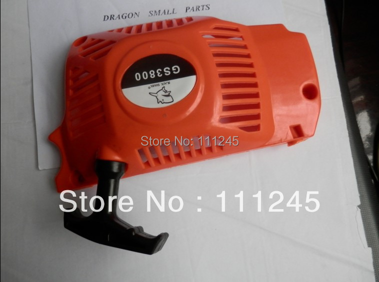 G3800 PULL START FOR ZENOAH G4100 3800 38CC 2 STROKE CHAINSAW RECOIL STARTER ASSEMBLY W/ ROPE HANDLE PULLEY REPL. T2100-75000 on sale of 1 set good quality chainsaw cylinder assembly for zenoah g5800 chainsaw