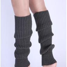 Boot-Socks Leg-Warmers Crochet Knitted Long Knee-High Women Solid Candy-Color