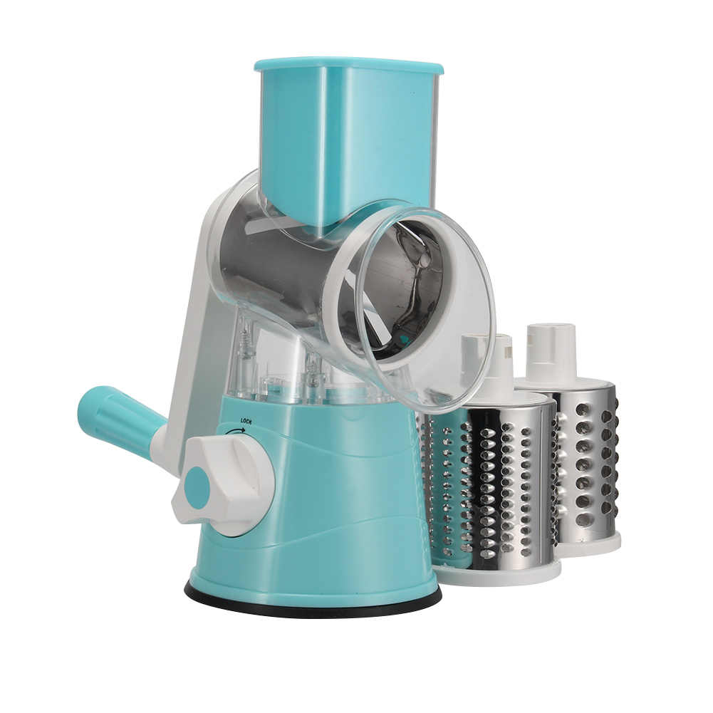 Vegetable Cutter Bulat Mandoline Slicer Kentang Wortel Parutan Slicer Stainless Steel Chopper Blades Alat Dapur P7Ding