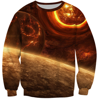 Space Themed sweatshirts Men Hoodies