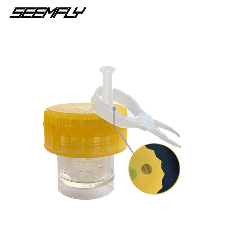 SEEMFLY Recém Portátil de Lavar Tipo de Limpeza de Limpeza Da Lente de Contato Recipiente Caso Caixa de Rotação Manual