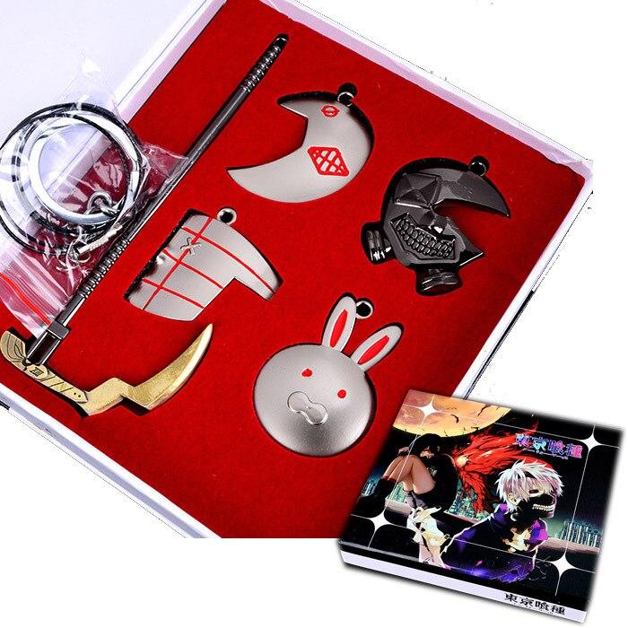 Tokyo Ghoul Necklace Jin Muyan COS Mask Rabbit Mist Dong Xiang Zhe Skull Pendant Anime Set