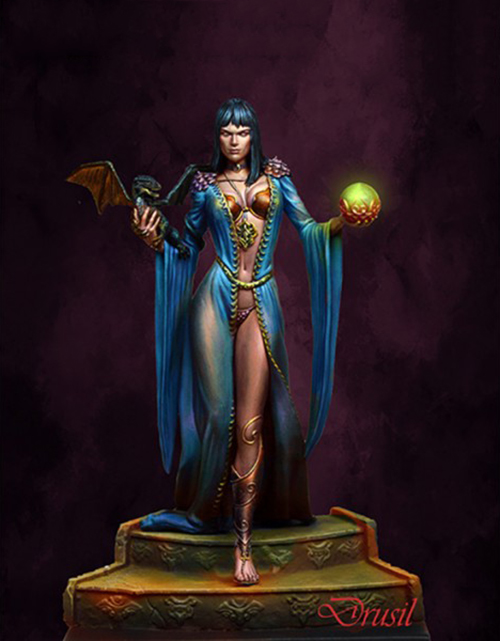 1/24 75mm  Queen Woman And Dragon 75mm      Resin Model Miniature  Figure Unassembly Unpainted