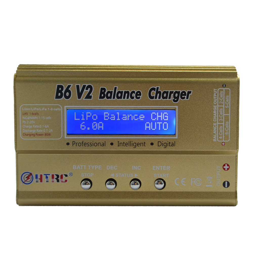 Build-power HTRC Battery Lipro Balance Charger iMAX B6 V2 charger Lipro Digital Balance Charger 15v 6A Power Adapter Charging