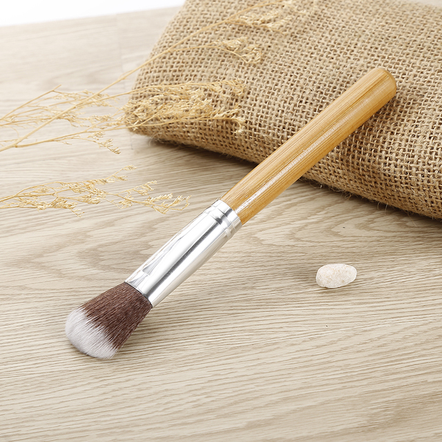 11 PCS Bamboo Handle Makeup Brushes Powder Concealer Foundation Brush Facial Mask Beauty Face Make up Brush Cosmetics Tools Set 5