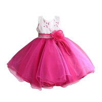 Flower Girl Dress Brand Princess Girls O Neck Sleeveless Dresses Sequined Birthday Party Dresses One Piece