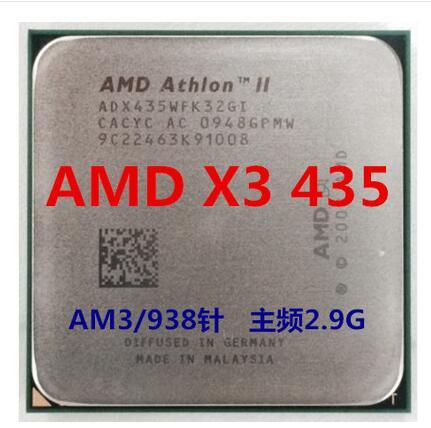 AMD Athlon II X3 435X435 Trois Core AM3 938 CPU 100% fonctionne correctement De Bureau Processeur