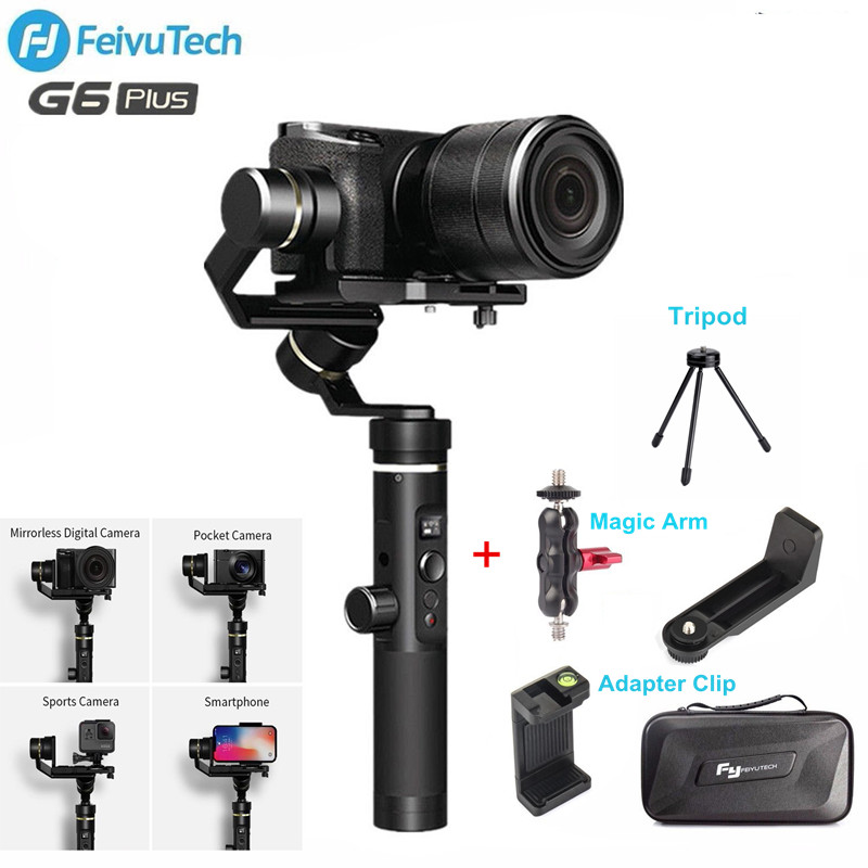 Feiyutech Feiyu G6 Plus 3 Axis Stabilizer handheld Gimbal for Iphone Sony A6300 Mirrorless Pocket GoPro