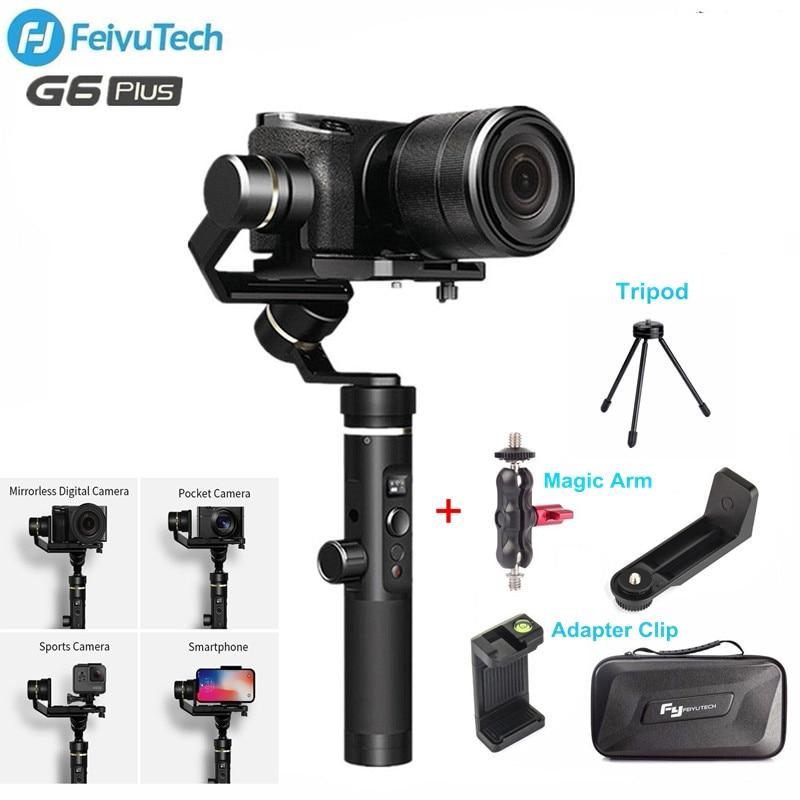 Feiyutech Feiyu G6 плюс 3-оси Стабилизатор Ручной карданный для Iphone sony A6300 беззеркальных карман GoPro действие Камера смартфон