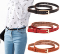 Wholesale Price 2017 Women Hollow Out Decorate Vintage PU Leather Belt Fashion Casual Thin Belt Ladies All Match Jeans Belt