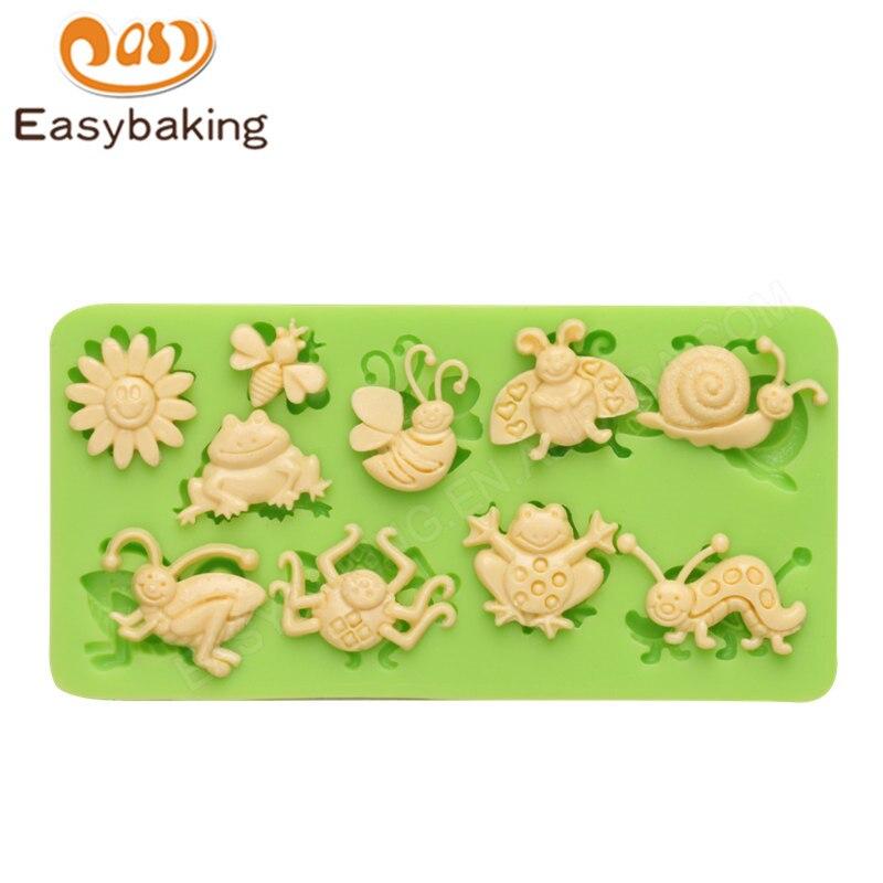 US $2.49 48% di SCONTO Serie insetto multi forme animali 3d torta del  silicone stampi da cucina bakeware del fondente che decora per diy jelly  candy ...