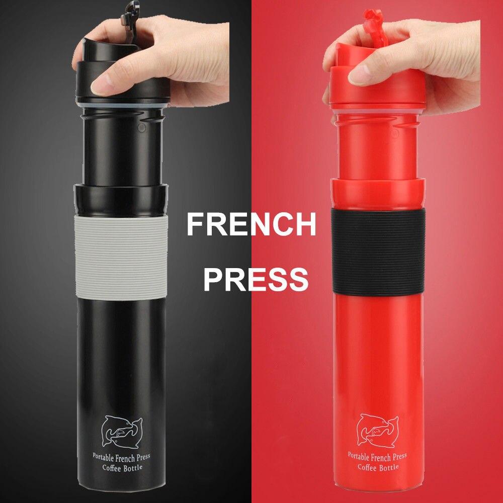 350 ml Portable Presse Française Cafetière En Acier Inoxydable À Double Paroi Tasse BPA Livraison De Filtration D'eau Isolement Thé Café Tasse