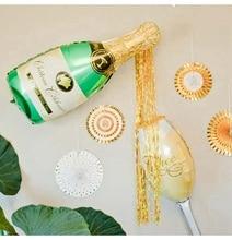 PAPYBAL 응원 컵 축하 결혼식 풍선 샴페인 헬륨 호일 풍선 웨딩 장식 공기 balon 생일 훈장