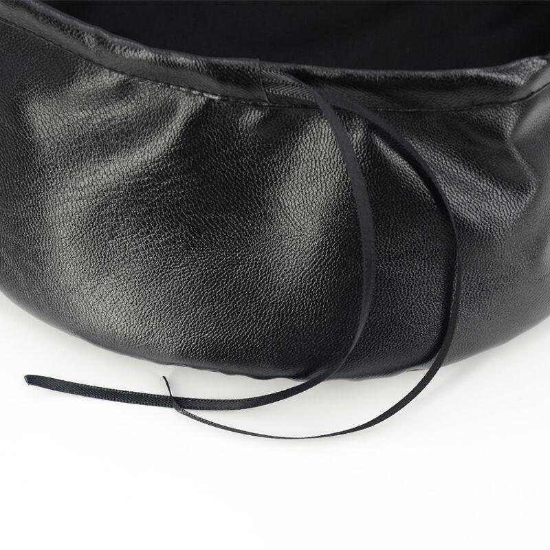 90s Retro Style Leather Women's Beret Hat