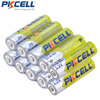 10Pcs PKCELL Ni-MH AA Batteries 2300mAh-2600mAh 1.2V NiMh AA Rechargeable Battery 2A Batteria Cell For Flashlights Camera Toys new arrival 4pcs pkcell 1 2v aa ni mh 2600mah lsd rechargeable batteries bateria pre charged batteries set with 1200 cycle