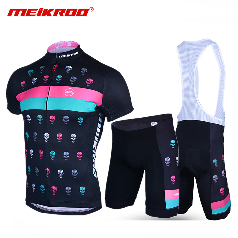 2a19d1a26 Cycling Jersey Set Men Bike Clothes Devil Skull Pro Team Bicycle Clothing  Suit Cycling Bib Set Short Sleeves ropa ciclismo mujer