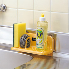 Kitchen suction cup rack plastic drain storage kitchen bathroom with