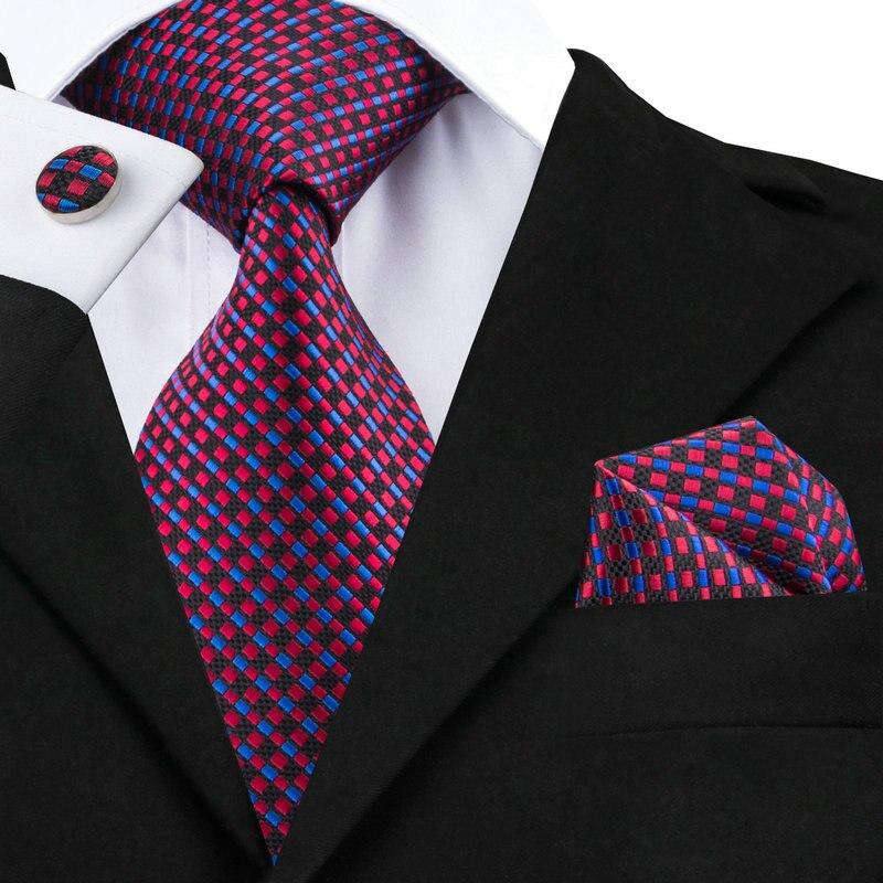 7f316b5e0920 C-1479 Hi-Tie Vintage Neck Tie Set 8.5cm Geometric Mens Tie Pocket Square  Cufflinks Fashion Jacquard Silk Ties For Men Corbatas