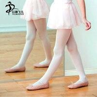 Kids Ballet Vũ Stretch Socks Cô Gái Nhảy Múa Ba Lê Vớ Pantyhose Trẻ Em Velvet Stocking White/Black/Màu Da
