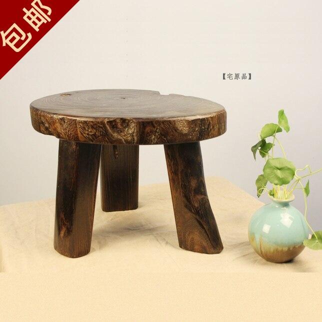 Японии экспорт сменив обувь стул стиль дровяной paulownia большой трехногий стул/скамьи, табуреты цветок пакет