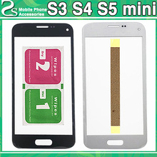 New Front Glass S5 S5 mini Lens For Samsung Galaxy S3 S3 mini S4 S4 mini Display Digitizer Touch Sensor Outer Glass Panel цена