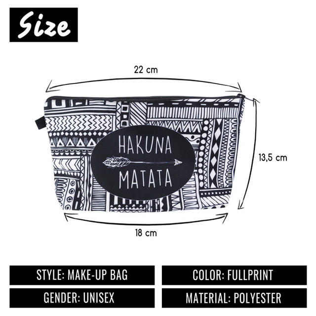 Jom Tokoy Fashion Brand Cosmetic Bags 2018 New Makeup Case  3D Printing Women Travel cosmetic organizer bag