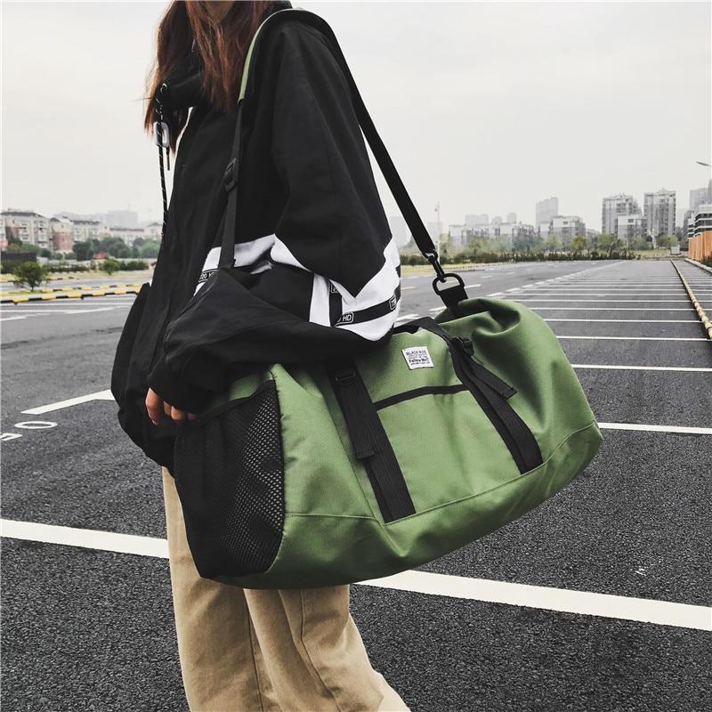 Female Sports Bag Tide Male / Women Korean Luggage Bag Large Capacity Light Handbag Short Distance Travel Bag Fitness Bag C42-95