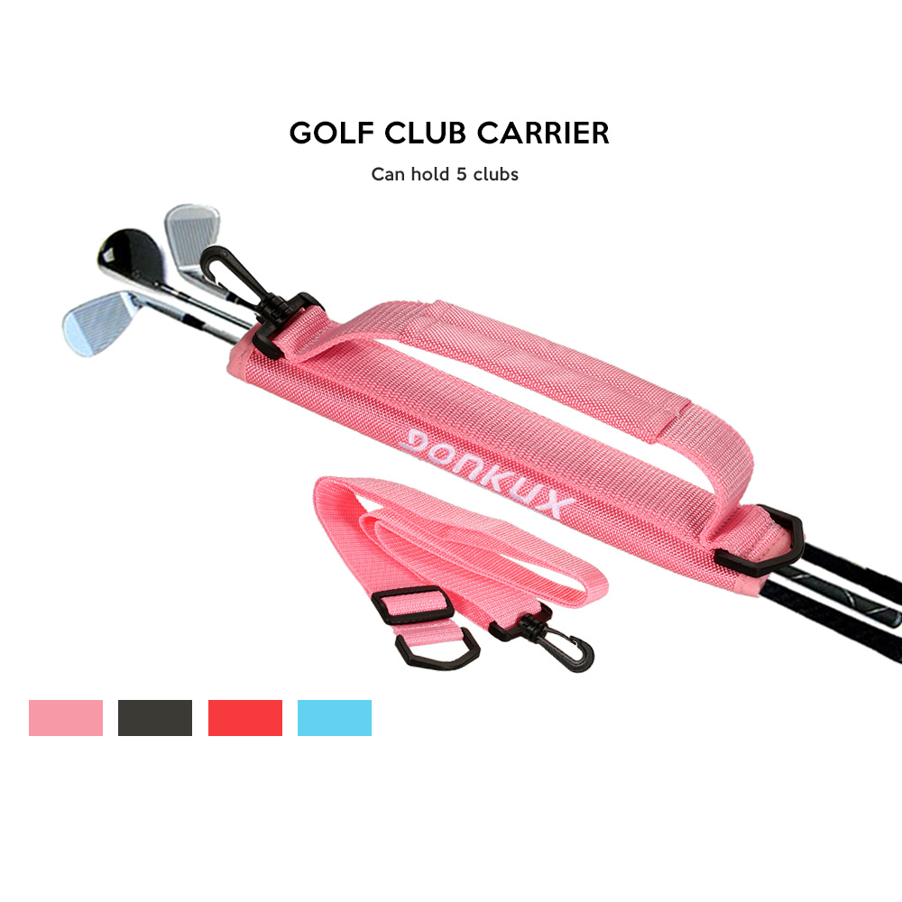 Image 4 - GONKUX Portable Golf Club Carrier Bag  Lightweight Golf Club Bag Nylon Club Carrier Sleeves with Shoulder Strap Shoulder Strap-in Golf Training Aids from Sports & Entertainment