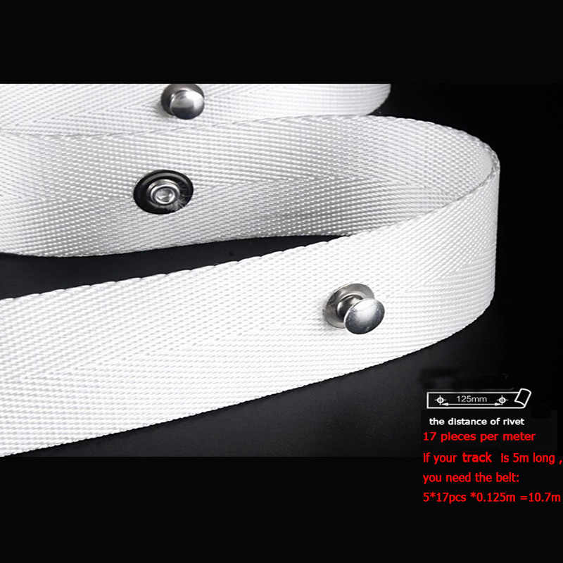 Curtain Accessories polyester fabric belt for S-type wave curtain motorized electric curtain rail
