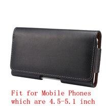 Кожаный Пояс Клип Кобура Чехол Для 4.5-5.1 «мобильный Телефон Чехол для iPhone 6 Samsung S5 S6 Grand Prime J5 Moto G