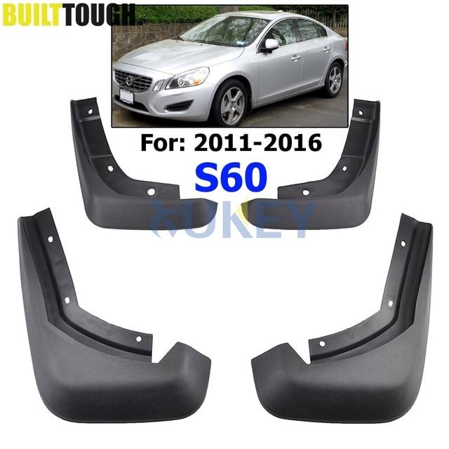Car Mud Flaps For VOLVO S60 2010 2016 Front 31265329 Rear 31359695 Mudflaps Splash Guards Mud Flap Mudguards 2012 2013 2014 2015
