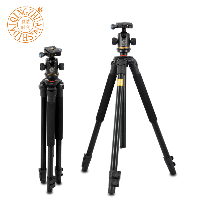 Hot Sale Pro Q360 Professional SLR Aluminum Photographic Tripods Portable Travel Digital Tripod With Ball Head Than Q666 zdk q360 orange