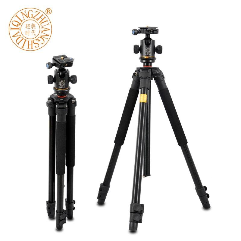 Offre spéciale Pro Q360 professionnel reflex en aluminium trépieds photographiques Portable voyage numérique trépied avec tête sphérique que Q666