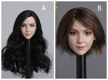 1/6 GACTOYS GC011 Short LONG Planted Hair Female Head Sculpt F 12 Figure
