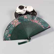 Japanese Cherry blossoms Ladies Cheaper Bamboo Folding Hand Fans,Wholesale Personalized Fan of Old Wedding Decoration 21