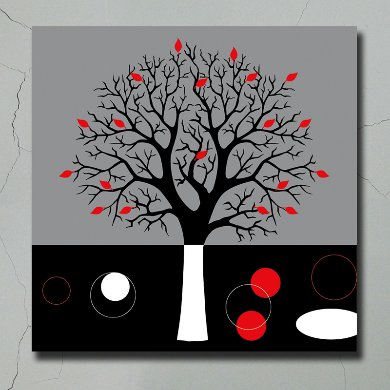 Home Decor Abstract Canvas Oil Painting Abstract Simple Tree