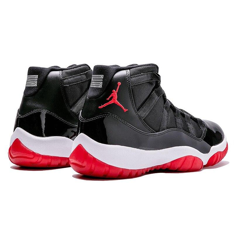 Nike Air Jordan XI Bred AJ 11 Men s Laceup Comfortble Lifestyle Shoes Men s  Sneakers Basketball Shoes 378037 010-in Basketball Shoes from Sports ... 9a8baa10dc80