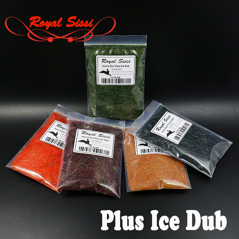 Royal Sissi 8 optional colors Hare's Ear dub Plus ice Dubbing buggy Czech nymph dub fly tying materials spiky& sparkle scud dub