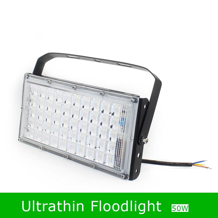 Floodlights LED Flood Light 50W Utrathin LED Spotlight Outdoor 220V 230V LED Reflector SMD 5730 IP65 Spotlight LEDs Street