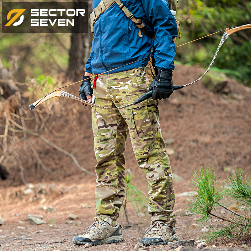 Sektor Seven Men Camouflage Military Tactical Bukser Cargo Casual Bukser