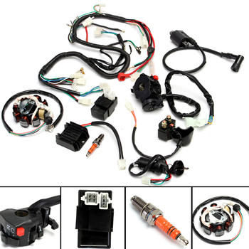 Newest Complete Electrics Wiring Harness Fit For Chinese Dirt Bike ATV QUAD 150-250 300CC Assembly Wiring Kit