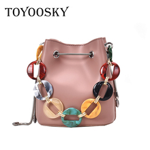 купить TOYOOSKY Fashion PU Leather Woman Shoulder Bags Brand Handbags Women Bucket Bags Designer Messenger Bag High Quality Women Mujer по цене 1136.45 рублей