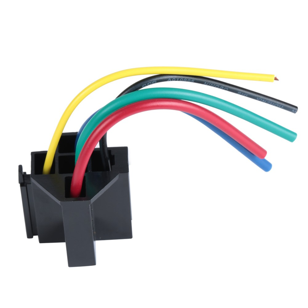 Lot of 6 Kits 12V 80 Amp 5 Pin SPDT Automotive Relay with Wires Harness Socket.0