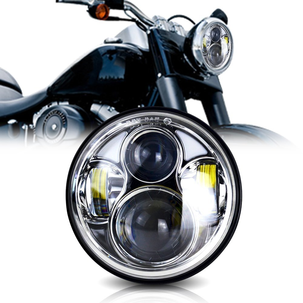 for Harley Davidsion V-Rod Night LED Moto Round Headlamp Motorcycle Accessories 5-3/4 Inch Front Daymaker Projector Headlight