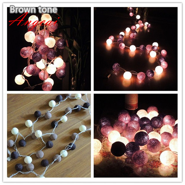20pcssets thai style cotton ball string lights partypatiowedding - Valentine String Lights