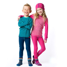100% мериносовой шерсти дети термобелье установить тонкие кальсоны Unisex Мальчики Девочки детей от 1,5 до 14 лет
