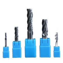 Endmills 4mm 5mm 6mm 8mm 10mm 12mm 4 Flute HRC50 Carbide Endmill Machine Tungsten Steel CNC Milling Cutter End Mill Machine Tool 2f r8 hrc50 carbide square flatted end mills coating nano two flute diameter 16 mm the lather boring bar cnc machine