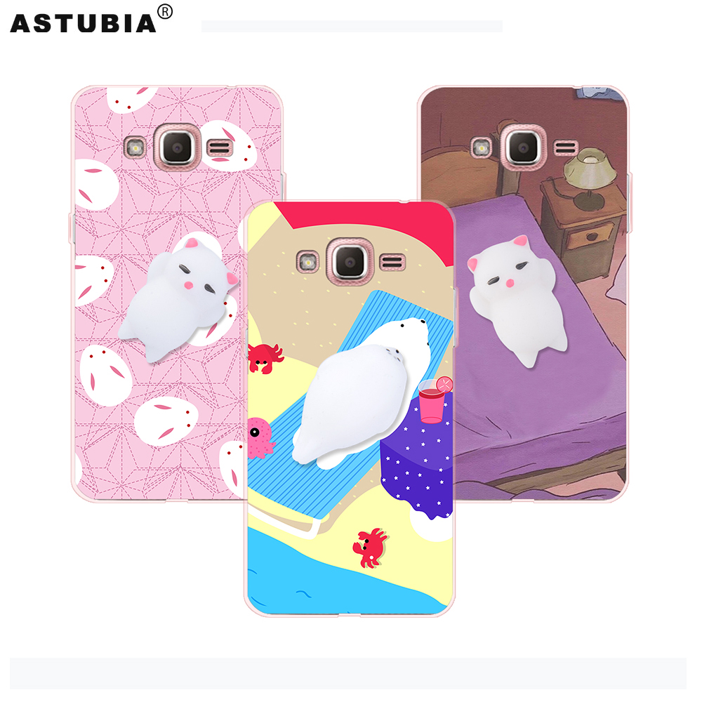 Squishy Cat For Phone Case : Anti Stress Squishy Phone Cases 3D Cute Cat Phone Cover For Samsung Galaxy J2 Prime Case ...