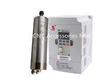цена на 1.2kw 24000rpm 400Hz D62mm ER11 water cooled spindle motor for CNC metal engraving & 1.5kw DZB280B001.5L2DK VFD Inverter
