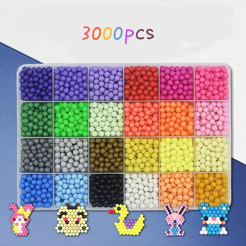 24 Цвета Sticky воды из бисера Обновление версии 62 Малый Инструменты Горячие Наклейки головоломки подарок для детей 3000 шт.